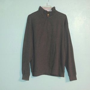 Orvis Gray Quarter Zip Pullover Sweater Large